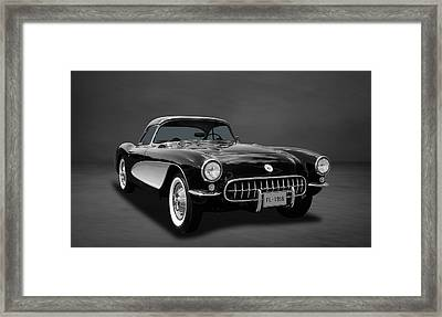 1956 C1 Chevrolet Corvette  -  4co Framed Print by Frank J Benz