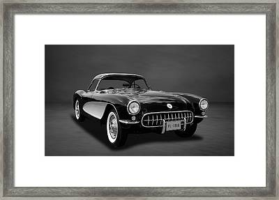 1956 C1 Chevrolet Corvette  -  5bw Framed Print by Frank J Benz