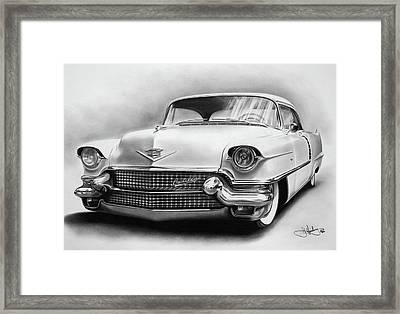 1956 Cadillac Drawing Framed Print