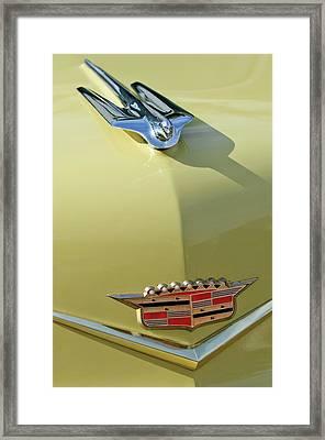 1956 Cadillac Sedan Deville Hood Ornament Framed Print by Jill Reger