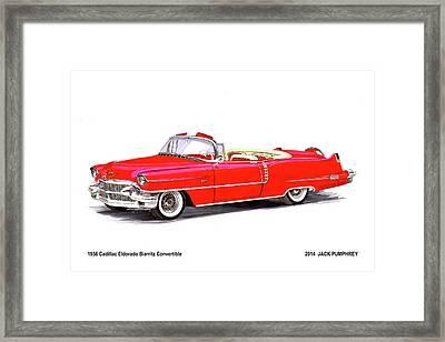 1956 Cadillac Series 62 Convertible Framed Print by Jack Pumphrey
