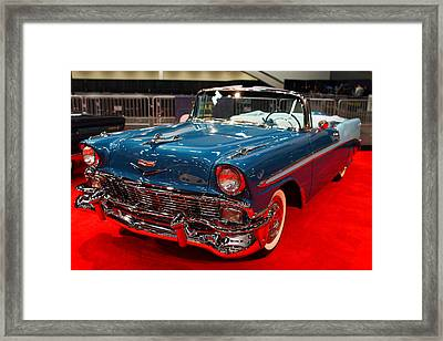 1956 Chevrolet Bel-air Convertible . Blue . 7d9248 Framed Print by Wingsdomain Art and Photography