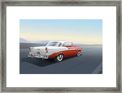 1956 Chevrolet Bel Air Framed Print by Marty Garland