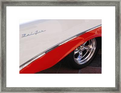 1956 Chevrolet Belair Convertible Wheel Framed Print