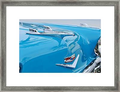 1956 Chevrolet Belair Nomad Hood Ornament Framed Print