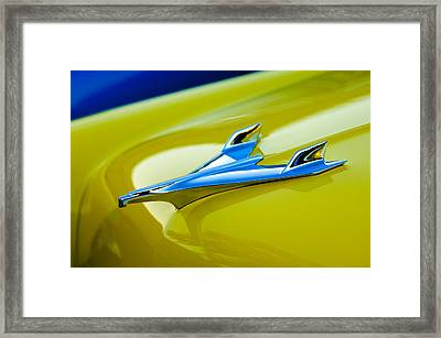 1956 Chevrolet Hood Ornament Framed Print by Jill Reger