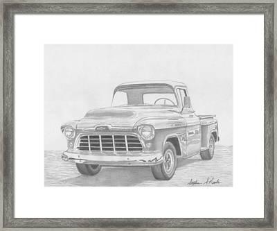 1956 Chevrolet Pickup Truck Art Print Framed Print by Stephen Rooks