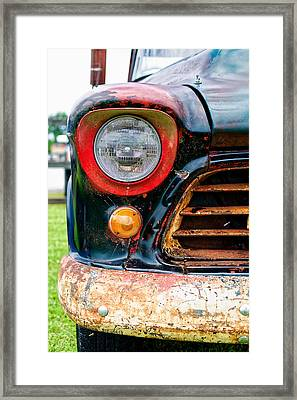 1956 Chevy 3200 Pickup Grill Detail Framed Print by Jon Woodhams