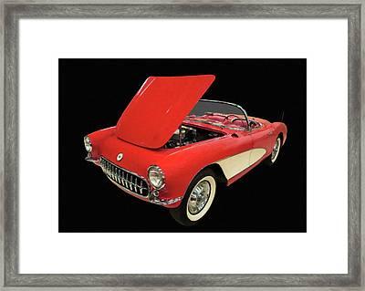 1956 Chevy Corvette Digital Oil Framed Print