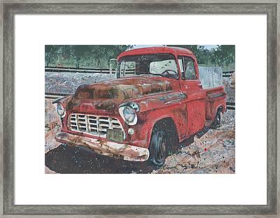 1956 Chevy Pickup Framed Print by Les Katt
