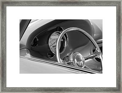 1956 Chrysler Hot Rod Steering Wheel Framed Print