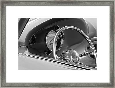 1956 Chrysler Hot Rod Steering Wheel Framed Print by Jill Reger