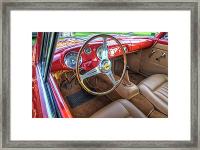 1956 Ferrari 250 Gt Boano Alloy Interior Framed Print by John Adams