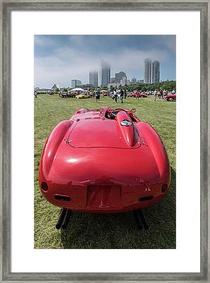Framed Print featuring the photograph 1956 Ferrari 290mm - 2 by Randy Scherkenbach