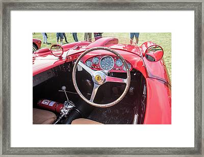 Framed Print featuring the photograph 1956 Ferrari 290mm - 4 by Randy Scherkenbach
