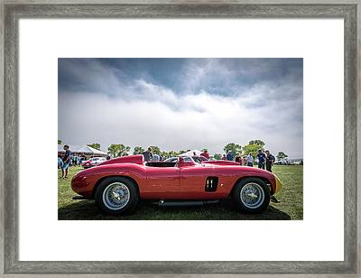 Framed Print featuring the photograph 1956 Ferrari 290mm by Randy Scherkenbach