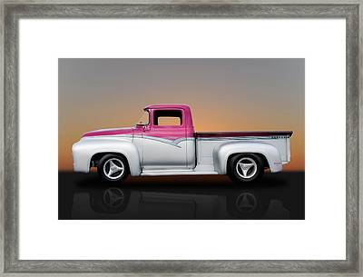 1956 Ford F-100 Pickup Framed Print by Frank J Benz