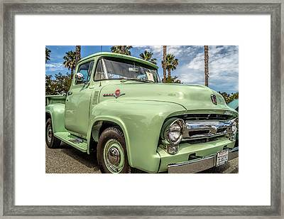Framed Print featuring the photograph 1956 Ford F-100 Pickup by Steve Benefiel