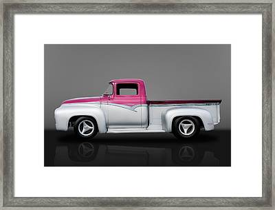 1956 Ford F100 Pickup Truck Framed Print by Frank J Benz