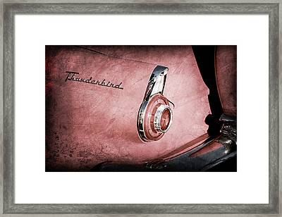Framed Print featuring the photograph 1956 Ford Thunderbird Convertible Taillight Emblem -0361ac by Jill Reger