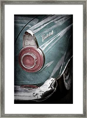 Framed Print featuring the photograph 1956 Ford Thunderbird Taillight Emblem -0382ac by Jill Reger