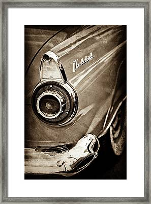1956 Ford Thunderbird Taillight Emblem -0382s Framed Print by Jill Reger