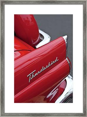 1956 Ford Thunderbird Taillight Emblem 2 Framed Print