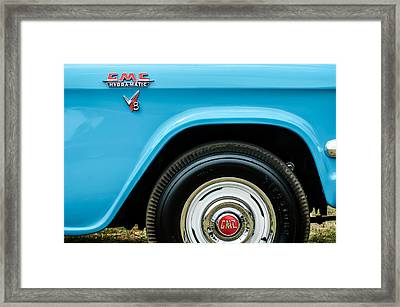 1956 Gmc 100 Deluxe Edition Pickup Truck  Side And Wheel Emblems -1498c Framed Print by Jill Reger