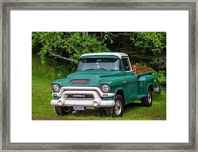 1956 Gmc Pickup Framed Print by Ken Morris