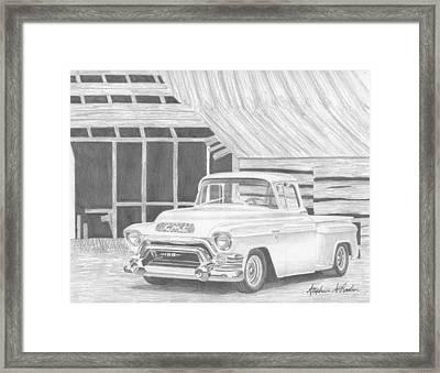 1956 Gmc Pickup Truck Art Print Framed Print by Stephen Rooks