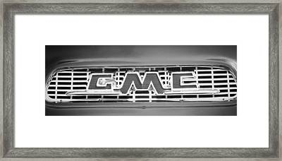 1956 Gmc Suburban Pickup Grille Emblem -0194bw2 Framed Print by Jill Reger