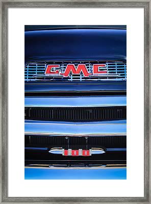 1956 Gmc Suburban Pickup Grille Emblem -0194c1 Framed Print by Jill Reger