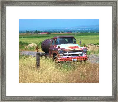 1956 Heavy Chevy Truck In Cache Valley Framed Print