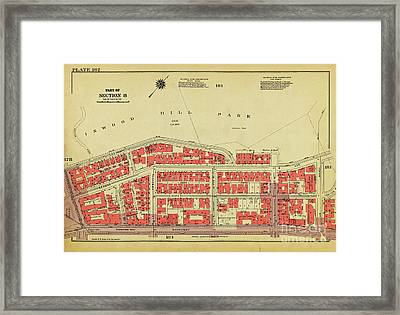 Framed Print featuring the photograph 1956 Inwood Map  by Cole Thompson