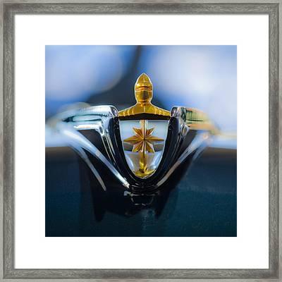 1956 Lincoln Hood Ornament Framed Print