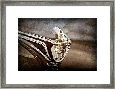 1956 Lincoln Premiere Convertible Hood Ornament -2797ac Framed Print
