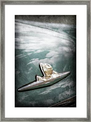 1956 Lincoln Priemere Emblem -0881ac Framed Print by Jill Reger