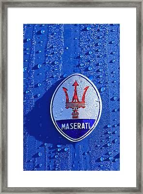 1956 Maserati 350 S  Emblem -0402c Framed Print