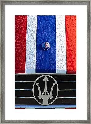 1956 Maserati 350 S Hood Ornament Emblem 3 Framed Print by Jill Reger