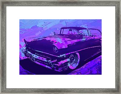 1956 Mercury Hardtop Custom Pop Violet Framed Print
