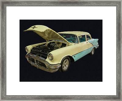1956 Olds Rocket 88 Digital Oil Framed Print