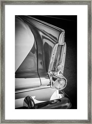 1956 Plymouth Tail Light -ck0233bw Framed Print