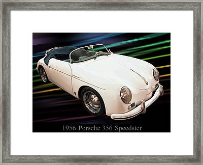 1956 Porsche 356 Speedster Framed Print by Chris Flees