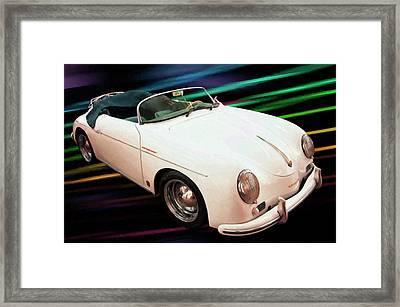 1956 Porsche 356 Speedster Digital Oil Framed Print