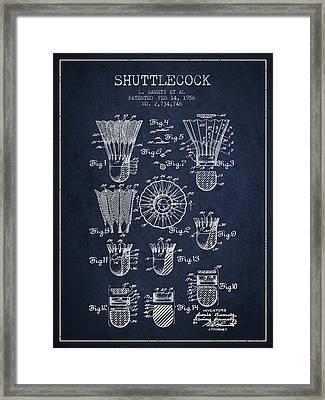 1956 Shuttelcock Patent Spbm04_nb Framed Print by Aged Pixel