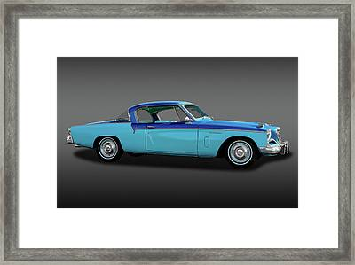Framed Print featuring the photograph 1956 Studebaker Sky Hawk Coupe  -  1956studebakerskyhawkfa170517 by Frank J Benz