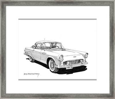 1956 Thunderbird Framed Print by Jack Pumphrey
