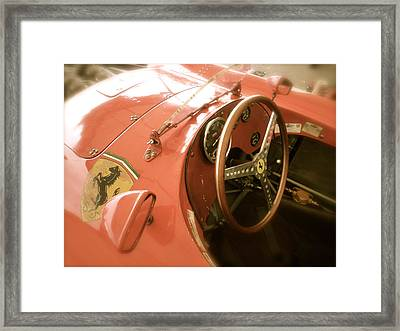 1956 Type Lancia Ferrari D50a Cockpit Framed Print by John Colley