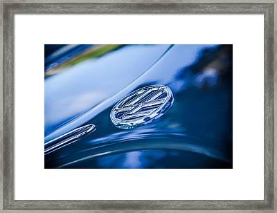 1956 Volkswagen Vw Beetle Emblem -0926c Framed Print by Jill Reger