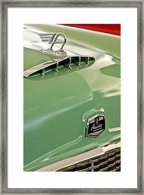 1957 Austin Cambrian 4 Door Saloon Hood Ornament And Emblem Framed Print